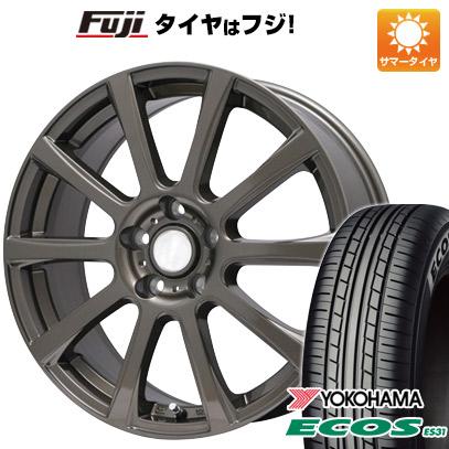 タイヤはフジ 送料無料 BRANDLE ブランドル 565Z 7J 7.00-17 YOKOHAMA エコス ES31 215/55R17 17インチ サマータイヤ ホイール4本セット