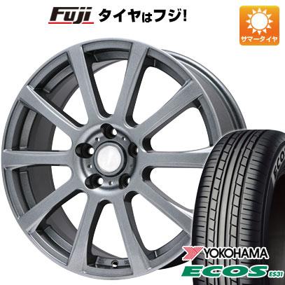 タイヤはフジ 送料無料 BRANDLE ブランドル 565T 7J 7.00-17 YOKOHAMA エコス ES31 215/55R17 17インチ サマータイヤ ホイール4本セット