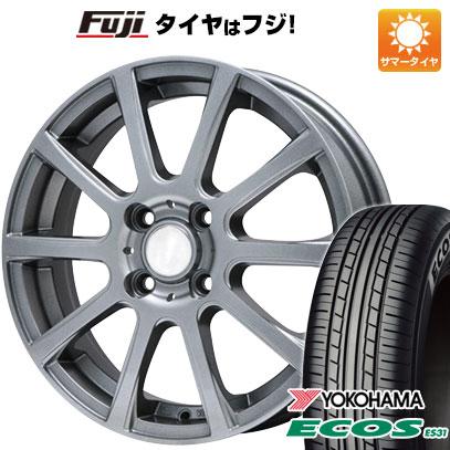 タイヤはフジ 送料無料 BRANDLE ブランドル 565T 4J 4.00-13 YOKOHAMA エコス ES31 165/65R13 13インチ サマータイヤ ホイール4本セット
