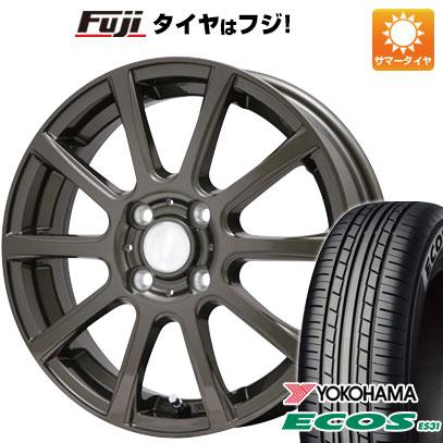 タイヤはフジ 送料無料 BRANDLE ブランドル 565Z 5.5J 5.50-14 YOKOHAMA エコス ES31 165/65R14 14インチ サマータイヤ ホイール4本セット