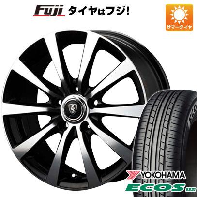 タイヤはフジ 送料無料 MID ユーロスピード BL-10 6J 6.00-16 YOKOHAMA エコス ES31 175/60R16 16インチ サマータイヤ ホイール4本セット