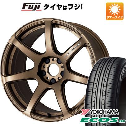 タイヤはフジ 送料無料 WORK ワーク エモーション T7R 5J 5.00-15 YOKOHAMA エコス ES31 165/55R15 15インチ サマータイヤ ホイール4本セット