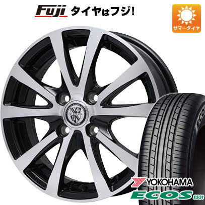 タイヤはフジ 送料無料 BIGWAY ビッグウエイ TRG バーン XP 5.5J 5.50-14 YOKOHAMA エコス ES31 185/70R14 14インチ サマータイヤ ホイール4本セット