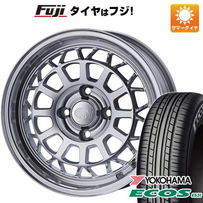 タイヤはフジ 送料無料 ENKEI エンケイ allシリーズ オールナイン 6J 6.00-15 YOKOHAMA エコス ES31 185/60R15 15インチ サマータイヤ ホイール4本セット