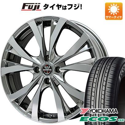 タイヤはフジ 送料無料 PREMIX プレミックス サッシカイア(BMCポリッシュ) 5J 5.00-15 YOKOHAMA エコス ES31 165/55R15 15インチ サマータイヤ ホイール4本セット