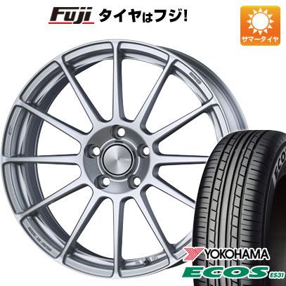 タイヤはフジ 送料無料 ENKEI エンケイ PF03 7J 7.00-17 YOKOHAMA エコス ES31 205/50R17 17インチ サマータイヤ ホイール4本セット