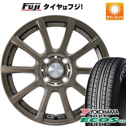 7/25はエントリーでポイント15倍 タイヤはフジ 送料無料 カジュアルセット タイプB17 ブロンズ 4J 4.00-13 155/70R13 13インチ YOKOHAMA エコス ES31 サマータイヤ ホイール4本セット