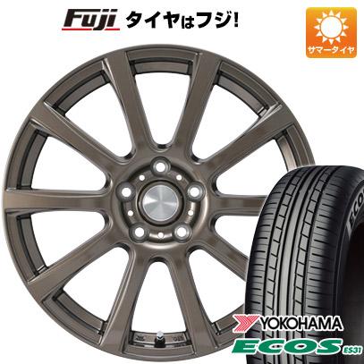 タイヤはフジ 送料無料 カジュアルセット タイプB17 ブロンズ 7.5J 7.50-18 YOKOHAMA エコス ES31 215/45R18 18インチ サマータイヤ ホイール4本セット