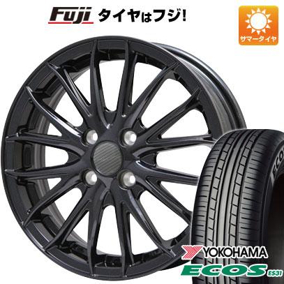 タイヤはフジ 送料無料 BRANDLE ブランドル 757B 4.5J 4.50-15 YOKOHAMA エコス ES31 165/50R15 15インチ サマータイヤ ホイール4本セット