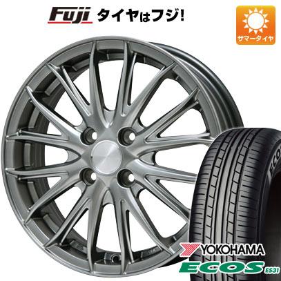 タイヤはフジ 送料無料 BRANDLE ブランドル 757 4.5J 4.50-14 YOKOHAMA エコス ES31 165/55R14 14インチ サマータイヤ ホイール4本セット