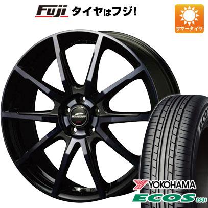 タイヤはフジ 送料無料 MID シュナイダー DR-01 7J 7.00-18 YOKOHAMA エコス ES31 225/45R18 18インチ サマータイヤ ホイール4本セット