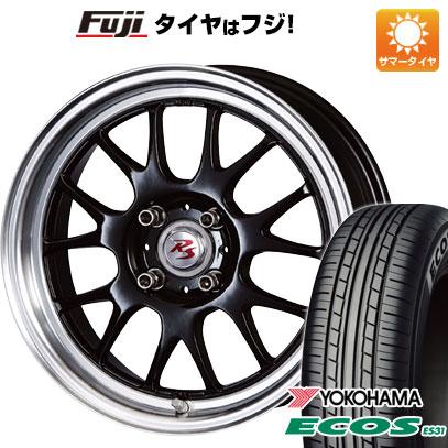 タイヤはフジ 送料無料 CRIMSON クリムソン RS ST AIRモノブロック 5.5J 5.50-15 YOKOHAMA エコス ES31 165/55R15 15インチ サマータイヤ ホイール4本セット