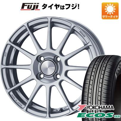 タイヤはフジ 送料無料 ENKEI エンケイ PF03 5J 5.00-15 YOKOHAMA エコス ES31 165/55R15 15インチ サマータイヤ ホイール4本セット