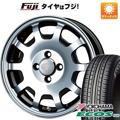 タイヤはフジ 送料無料 ENKEI エンケイ allシリーズ オールフォー 5J 5.00-15 YOKOHAMA エコス ES31 165/55R15 15インチ サマータイヤ ホイール4本セット