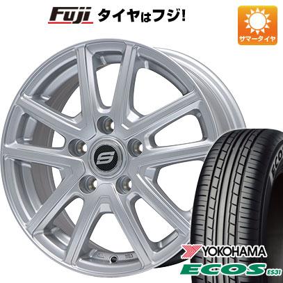 タイヤはフジ 送料無料 BRANDLE ブランドル M61 7J 7.00-17 YOKOHAMA エコス ES31 215/55R17 17インチ サマータイヤ ホイール4本セット