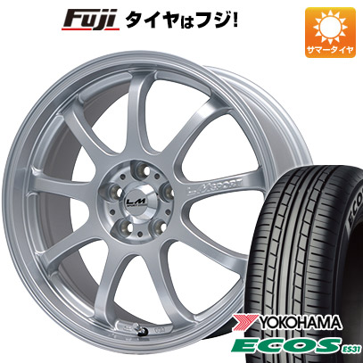 タイヤはフジ 送料無料 LEHRMEISTER レアマイスター LMスポーツファイナル(メタリックシルバー) 7.5J 7.50-17 YOKOHAMA エコス ES31 215/45R17 17インチ サマータイヤ ホイール4本セット