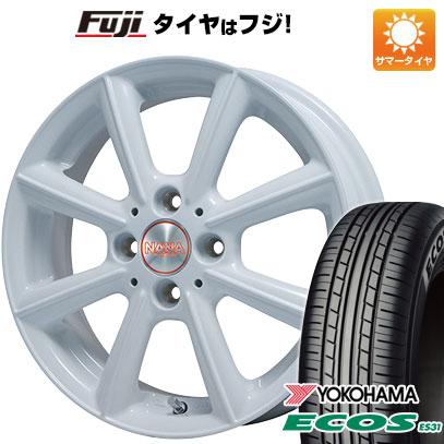 タイヤはフジ 送料無料 PREMIX プレミックス ナナ 4.5J 4.50-15 YOKOHAMA エコス ES31 165/55R15 15インチ サマータイヤ ホイール4本セット