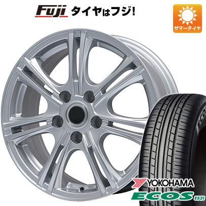 タイヤはフジ 送料無料 BRANDLE ブランドル M68 7J 7.00-17 YOKOHAMA エコス ES31 215/55R17 17インチ サマータイヤ ホイール4本セット