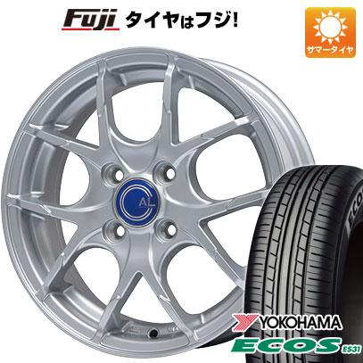 タイヤはフジ 送料無料 BRANDLE ブランドル M69 5.5J 5.50-14 YOKOHAMA エコス ES31 185/70R14 14インチ サマータイヤ ホイール4本セット