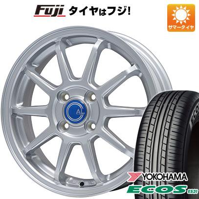 タイヤはフジ 送料無料 BRANDLE ブランドル M60 4.5J 4.50-15 YOKOHAMA エコス ES31 165/55R15 15インチ サマータイヤ ホイール4本セット