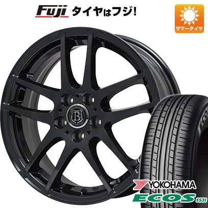 タイヤはフジ 送料無料 BRANDLE-LINE ブランドルライン アヴェルサ 5Z 6.5J 6.50-16 YOKOHAMA エコス ES31 205/55R16 16インチ サマータイヤ ホイール4本セット