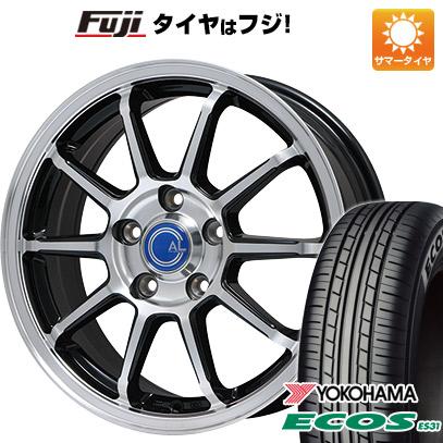 タイヤはフジ 送料無料 BRANDLE ブランドル M60B 7J 7.00-17 YOKOHAMA エコス ES31 215/50R17 17インチ サマータイヤ ホイール4本セット