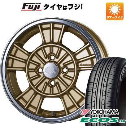 タイヤはフジ 送料無料 ENKEI エンケイ allシリーズ オールフォーティーン 5J 5.00-15 YOKOHAMA エコス ES31 165/55R15 15インチ サマータイヤ ホイール4本セット