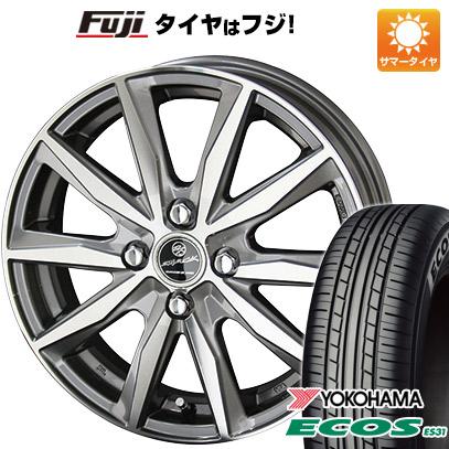 タイヤはフジ 送料無料 KYOHO 共豊 スマック プライム バサルト 4.5J 4.50-15 YOKOHAMA エコス ES31 165/50R15 15インチ サマータイヤ ホイール4本セット