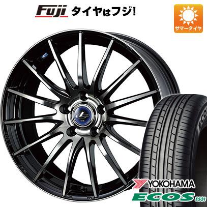 タイヤはフジ 送料無料 WEDS ウェッズ レオニス NAVIA 05 6J 6.00-15 YOKOHAMA エコス ES31 195/65R15 15インチ サマータイヤ ホイール4本セット