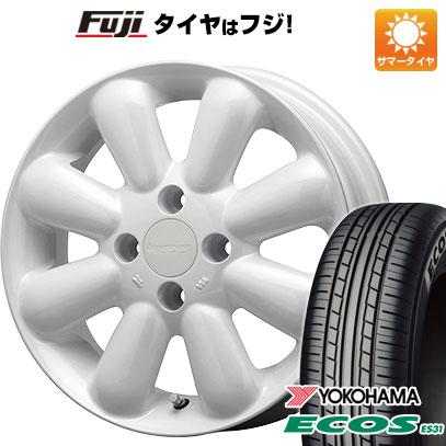 タイヤはフジ 送料無料 MLJ ハイペリオン ピノプラス 4.5J 4.50-15 YOKOHAMA エコス ES31 165/55R15 15インチ サマータイヤ ホイール4本セット