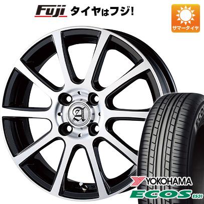 タイヤはフジ 送料無料 TECHNOPIA テクノピア アドニス ISR 4.5J 4.50-15 YOKOHAMA エコス ES31 165/55R15 15インチ サマータイヤ ホイール4本セット