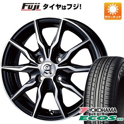 タイヤはフジ 送料無料 TECHNOPIA テクノピア アドニス KRS 4.5J 4.50-14 YOKOHAMA エコス ES31 165/60R14 14インチ サマータイヤ ホイール4本セット