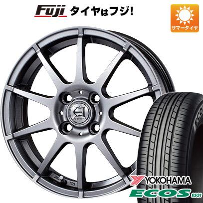 タイヤはフジ 送料無料 TECHNOPIA テクノピア アフロディーテ HS 4.5J 4.50-14 YOKOHAMA エコス ES31 155/65R14 14インチ サマータイヤ ホイール4本セット