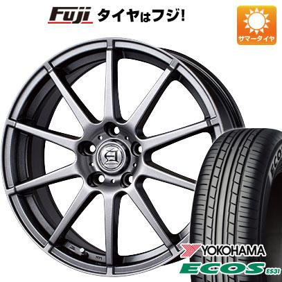 タイヤはフジ 送料無料 TECHNOPIA テクノピア アフロディーテ HS 7.5J 7.50-18 YOKOHAMA エコス ES31 225/45R18 18インチ サマータイヤ ホイール4本セット
