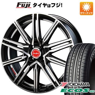 タイヤはフジ 送料無料 BLEST ブレスト ユーロスポーツ タイプレグルス A1 6.5J 6.50-17 YOKOHAMA エコス ES31 205/50R17 17インチ サマータイヤ ホイール4本セット