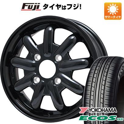タイヤはフジ 送料無料 BRANDLE-LINE ブランドルライン ストレンジャーKST-9 (ブラック) 4.5J 4.50-14 YOKOHAMA エコス ES31 165/60R14 14インチ サマータイヤ ホイール4本セット
