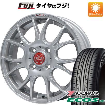 タイヤはフジ 送料無料 LEHRMEISTER LM-S ヴェネート7 (シルバー/リムポリッシュ) 4.5J 4.50-14 YOKOHAMA エコス ES31 165/55R14 14インチ サマータイヤ ホイール4本セット