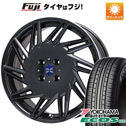 タイヤはフジ 送料無料 PREMIX プレミックス バリック(パールブラック/リムポリッシュ) 6.5J 6.50-16 YOKOHAMA エコス ES31 195/55R16 16インチ サマータイヤ ホイール4本セット