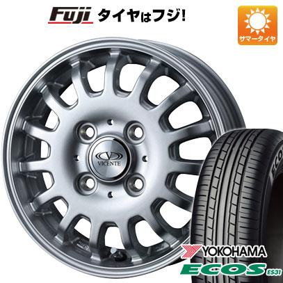タイヤはフジ 送料無料 WEDS ウェッズ ビセンテ 04 EV スズキ エブリィワゴン専用 4.5J 4.50-14 YOKOHAMA エコス ES31 165/60R14 14インチ サマータイヤ ホイール4本セット