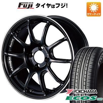 タイヤはフジ 送料無料 YOKOHAMA アドバンレーシング RZII 5.5J 5.50-15 YOKOHAMA エコス ES31 185/60R15 15インチ サマータイヤ ホイール4本セット