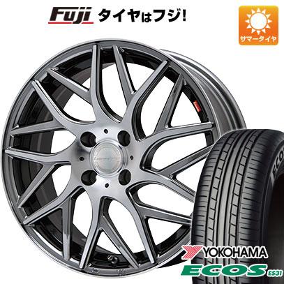 タイヤはフジ 送料無料 LEHRMEISTER レアマイスター キャンティ(BMCポリッシュ) 5J 5.00-15 YOKOHAMA エコス ES31 165/50R15 15インチ サマータイヤ ホイール4本セット
