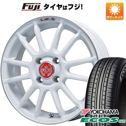 タイヤはフジ 送料無料 LEHRMEISTER LM-S トスカーナ6 (ホワイト/リムポリッシュ) 4.5J 4.50-15 YOKOHAMA エコス ES31 165/50R15 15インチ サマータイヤ ホイール4本セット