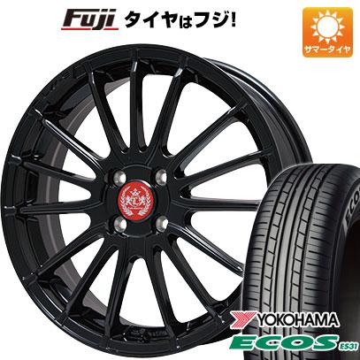 タイヤはフジ 送料無料 LEHRMEISTER LM-S トレント15 (グロスブラック) 6.5J 6.50-16 YOKOHAMA エコス ES31 185/55R16 16インチ サマータイヤ ホイール4本セット