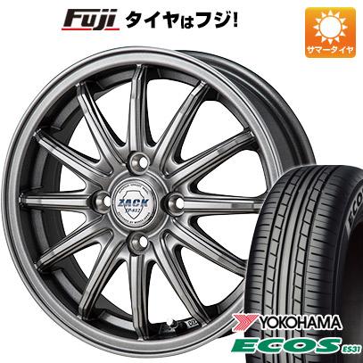 タイヤはフジ 送料無料 MONZA モンツァ ZACK JP-812 4.5J 4.50-15 YOKOHAMA エコス ES31 165/55R15 15インチ サマータイヤ ホイール4本セット
