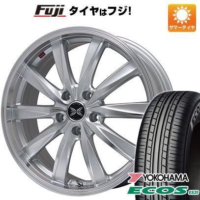 タイヤはフジ 送料無料 PREMIX プレミックス ルマーニュ(シルバーポリッシュ) 7J 7.00-18 YOKOHAMA エコス ES31 225/45R18 18インチ サマータイヤ ホイール4本セット