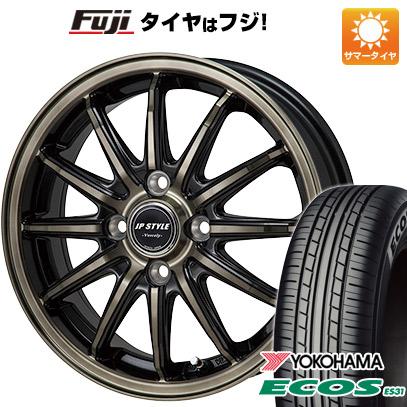 タイヤはフジ 送料無料 MONZA モンツァ JPスタイルバークレー 4J 4.00-13 155/70R13 13インチ YOKOHAMA エコス ES31 サマータイヤ ホイール4本セット