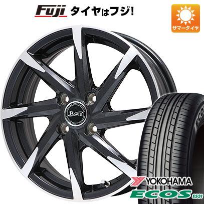 タイヤはフジ 送料無料 ビッグウェイ B-WIN ゼナート 8(ブラックポリッシュ) 4.5J 4.50-15 YOKOHAMA エコス ES31 165/55R15 15インチ サマータイヤ ホイール4本セット