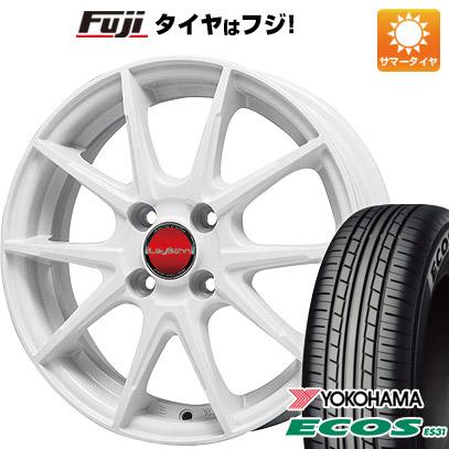 タイヤはフジ 送料無料 BIGWAY ビッグウエイ LEYBAHN WGS 5.5J 5.50-14 YOKOHAMA エコス ES31 175/70R14 14インチ サマータイヤ ホイール4本セット