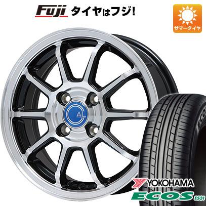 タイヤはフジ 送料無料 BRANDLE ブランドル M60B 5.5J 5.50-14 YOKOHAMA エコス ES31 175/65R14 14インチ サマータイヤ ホイール4本セット