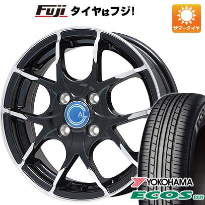 タイヤはフジ 送料無料 BRANDLE ブランドル M69B 5.5J 5.50-15 YOKOHAMA エコス ES31 175/65R15 15インチ サマータイヤ ホイール4本セット